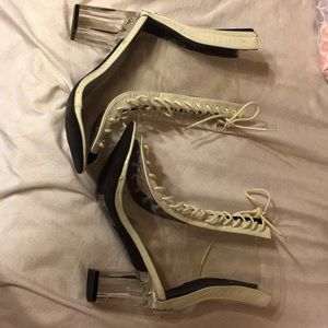 Clear ankle boots